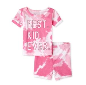 NWT Tie Dye Snug Fit Cotton Pajamas   baby and toddler   Pink